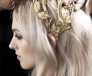 model, gold, and hair image