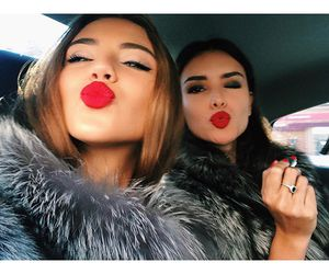 beauty, girls, and kiss image