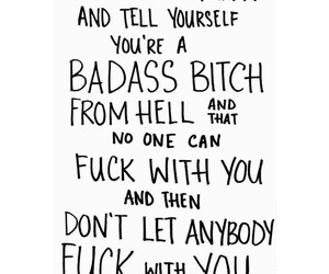 quotes, badass, and bitch image
