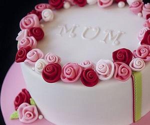 cake, mom, and birthday image
