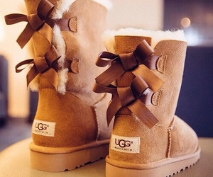 ugg, bow, and shoes image