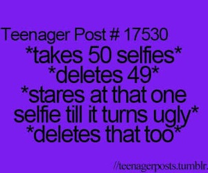teenager post, funny, and selfies image