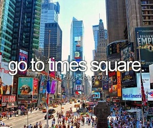new york, city, and times square image