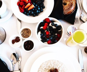 breakfast, hotel, and delicious image