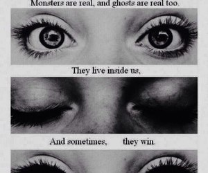 monster, eyes, and ghost image
