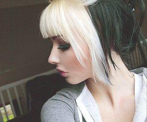 hair, black, and blonde image