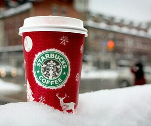 food, red, and starbucks image
