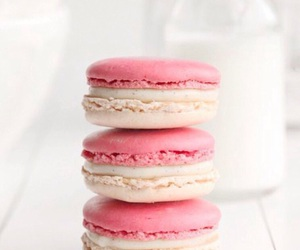 pink, food, and white image