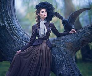 fantasy, raven, and black image