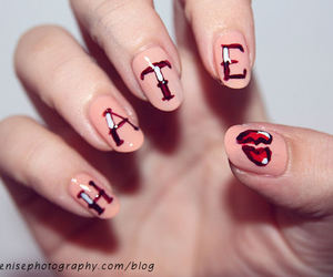 nails, hate, and pink image