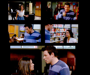 finn, glee, and rachel image