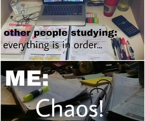 chaos, comparison, and exam image