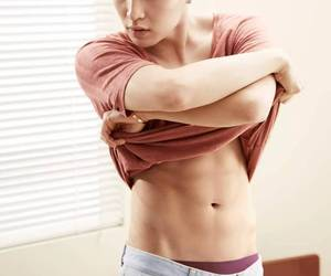 abs, kpop, and model image