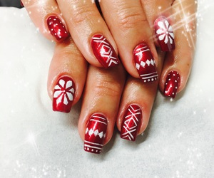 christmas, nails, and december image