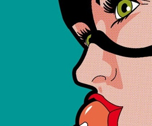 catwoman, lollipop, and pop art image