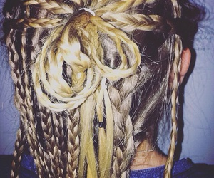 blond, blond hair, and braid image