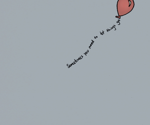 quotes, let, and balloon image