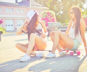 best friends, bright, and colorful image
