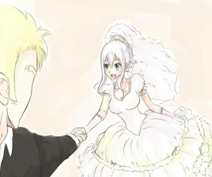 anime, wedding, and fairy tail image