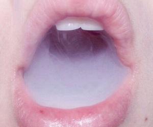 smoke, lips, and pink image