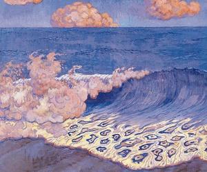 art, sea, and blue image
