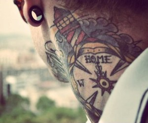 tattoo, boy, and Plugs image