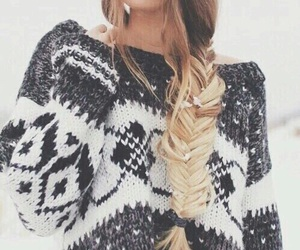 winter, hair, and snow image