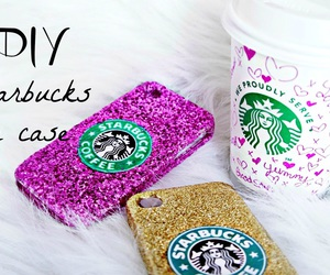 starbucks, case, and pink image