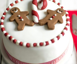 christmas, cake, and food image