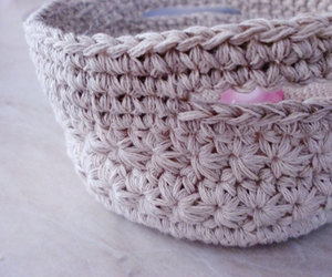 etsy, jewelry dish, and crochet basket image
