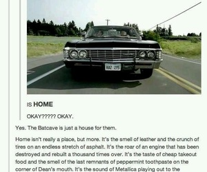dean winchester, home, and impala image