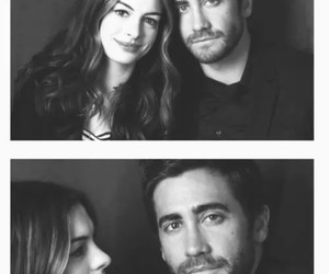 couple, Anne Hathaway, and black and white image