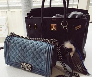 bag, chanel, and hermes image
