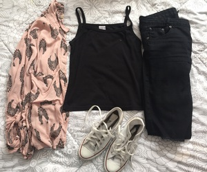 black, converse, and forever 21 image