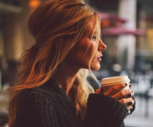 coffee, girly, and hair image