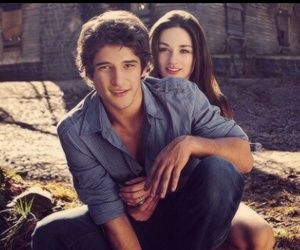 teen wolf, tyler posey, and couple image