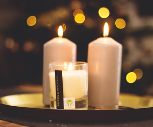 bokeh, candle, and christmas image