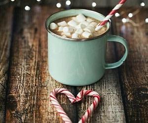 christmas, winter, and hot chocolate image