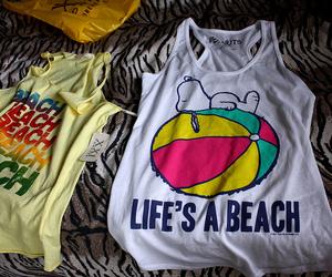 beach, shirt, and summer image