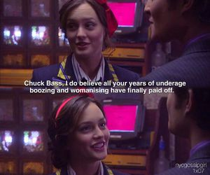 blair waldorf, chair, and ed westwick image