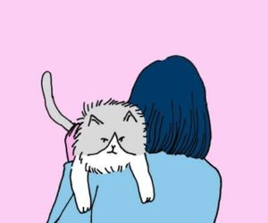 cat, art, and header image