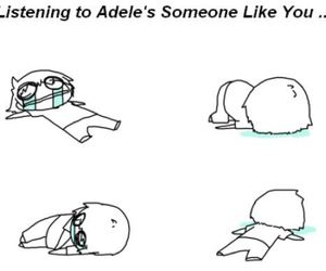 Adele, black and white, and someone like you image
