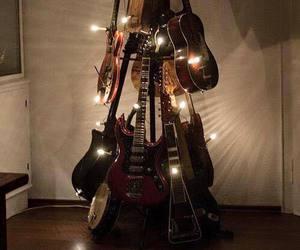 guitar, christmas, and music image
