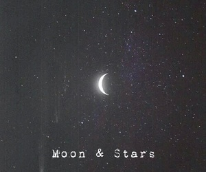 stars, moon, and night image