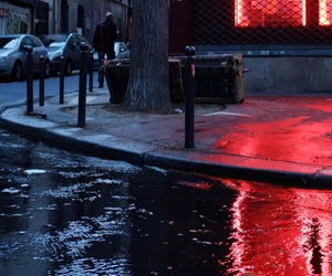street, light, and red image