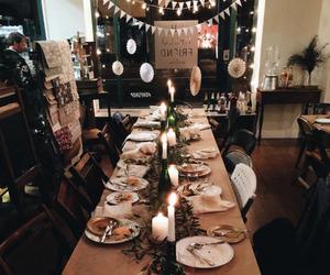 christmas, merry, and table image