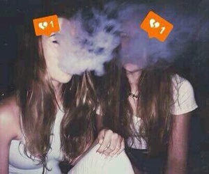 smoke, girl, and grunge image