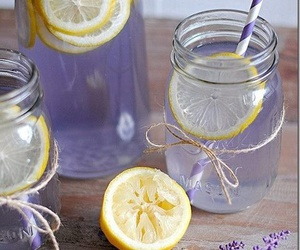 drink, lemonade, and lavender image