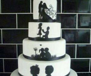 cake, wedding cake, and love image