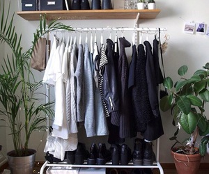 clothes, room, and black image
